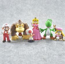 PVC Super Mario Bro Figures Toys Model Statue Collectible Doll 6pcs/Set No Box