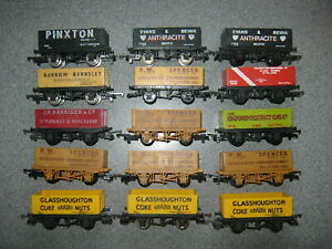 15 Lima OO Gauge Mixed Private Owner 7 Plank Wagons