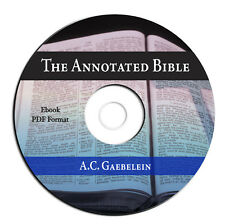 The Annotated Bible-A C Gaebelein-Christian Commentary-Theology-on CD Ebook PDF