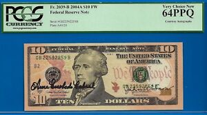 2004-A $10 FRN (( Dual Autograph - REPEATER )) PCGS New 64PPQ # 2259 2259-