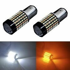2PCS 1157 3014 LED Dual Color White & Amber Switchback Turn Signal Light Bulbs