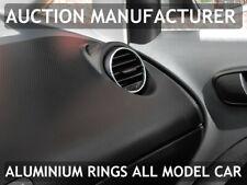 For Seat Altea / XL 2004-2015 Aluminium Air Vents Surrounds Chrome Rings x 2 New