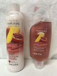 Avon Naturals | Shower Gel & Lotion Set | Pomegranate & Mango
