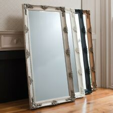 Standing Mirror ornate style full length mirror in a Antique Silver finish