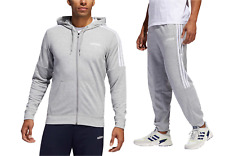 Adidas Men's Gym French Terry Tracksuit Hooded Jacket Pants  SZ M L XL
