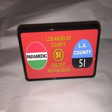 La County Station 51 fire fighter emergency Rescue Squad Trailer Hitch Cover B
