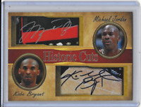 Michael Jordan Kobe Bryant Historic Cuts Edition Facsimile Autograph Card