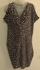 Paul Smith Black Label Dress Size 40 100% silk Tunic style Abstract Print