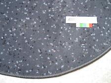 6594 flacher runder Teppich 80 Velours rund anthrazit grau mit Punkten robust
