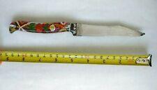 Vintage Handmade Soviet Knife Prison Art USSR Stainless Steel Plexiglas