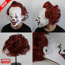 Halloween Mask Scary Clown Stephen King'S It 2 Joker Full Face Horror Cosplay