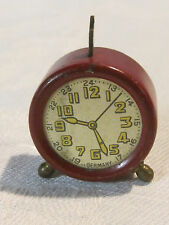 Vintage German pencil sharpener alarm clock toy, perfect for doll or dolls house