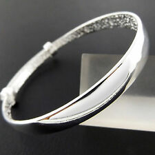 Bangle Bracelet Real 925 Sterling Silver S/F Solid Girls Adjustable Design