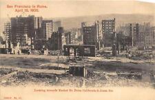 SAN FRANCISCO CALIFORNIA EARTHQUAKE CALIFORNIA & JONES STREET POSTCARD 1906