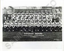 1940 CHICAGO BEARS 8X10 TEAM PHOTO SID LUCKMAN BULLDOG TURNER BRONKO NAGURSKI