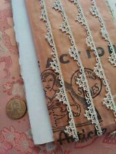 Tiny Lace antique French Schiffli Victorian 3. 5 yds scalloped