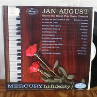 Jan August Styles of the Great Pop Piano Classics LP Mercury WLP Promo VG+