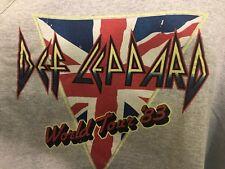 DEF LEPPARD World Tour '83 Tank Top Shirt XL Heather Gray *New* Rock Concert