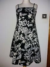 Size UK 16 TEATRO BLACK.WHITE PARTY COCKTAIL DRESS SEQUIN FLORAL Q