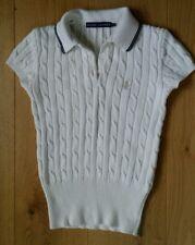 Donna Ralph Lauren Cable Knit Estate Top Taglia S Uk 8-10