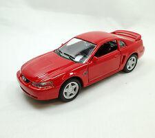 1999 Ford Mustang GT Rot Lizenz Miniatur Rückzugsmotor L115xB42xH52mm