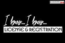 VINYL DECAL - license & registration - funny JDM car window sticker honda racing