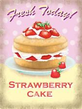 gâteau aux fraises, frais Today Crème , cuisine style rétro petit métal /