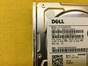 "*** 7FJW4 0RVDT Dell 300GB 12Gb/s SAS 15K 2.5"" HDD with Tray ***"