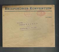 1922 Bonn Germany Meter cover Commercial to Homburg