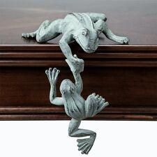 Helping Hand Frog Shelf Sitter Garden Decor Two Frogs Sculpture Statue