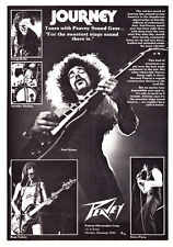 "1978 Rock Band ""Journey"" Steve Perry Etc. photo Peavey Sound Gear promo print ad"