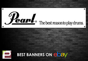 Pearl Drums Banner, for Rehearsal Room, Studio, Garage, Shop,