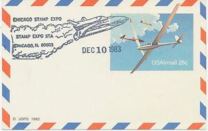 USA 28 C Gliders Air Post superb unaddressed postal stationery airmail postcard