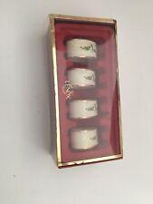 Lenox Porcelain Holiday Napkin Rings, Set Of 4 New