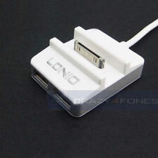 30-Pin to USB Docking Station Dock + USB HUB Charger Sync For iPhone 4 4S iPod