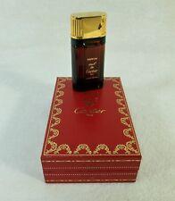 Ancienne miniature Flacon de parfum MUST DE CARTIER en écrin 7,5 mL Paris France