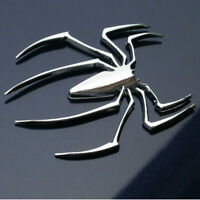 1x 3D Metal  Spider Logo Car Sticker Emblem Motor Truck Badge Accessories Decal