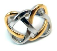 Celtic Knot Ring Yellow Gold PVD 2 Tone Stainless Surgical Steel Hypoallergenic