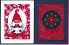 Handmade CROSS STITCH  CHRISTMAS CARDS #CX-B--Lot of 2