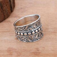 925 Silver Spinner&Wide Band Meditation Statement Ring Handmade Jewelry All Size
