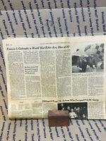 FRANCIS S. GABRESKI 83 US WORLD WAR II AIR ACE  NEW YORK TIMES OBITUARY 2/2/2002