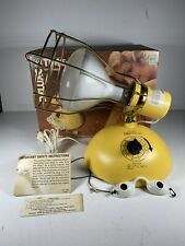 Vintage GE General Electric Deluxe Time-A-Tan Sun Lamp W/ Original Box & Bulb