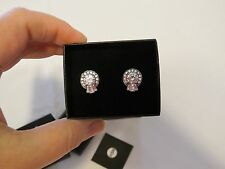 Xavier  Absolute™ Baguette and Round Sterling Silver Stud Earrings 925 HSN NEW