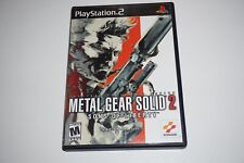 Metal Gear Solid 2 Sons Of Liberty Original Playstation 2 ps2 Complete Great