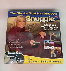 "SNUGGIE ORIGINAL ""THE BLANKET THAT HAS SLEEVES"" AS SEEN ON TV RED SOFT FLEECE"