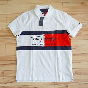 TOMMY HILFIGER SLIM FIT ESSENTIAL SIGNATURE FLAG POLO