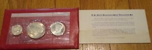 1976 Bicentennial Silver Uncirculated Mint Set U.S. Mint 3 coin 40% Silver Coin