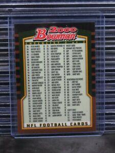 2000 Bowman Football Checklist #2 of 2 Tom Brady RC C742