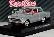 FORD CORTINA MK1 1963 COUPE SILVER DETAIL CARS ART 373 1/43