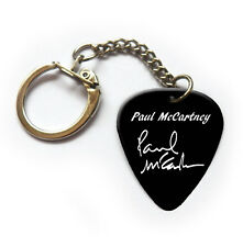 Famous signature printed guitar pick plectrum keychain keyring Paul McCartney